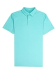 Aqua Blue Blue Lightweight Pique Tennis Club Polo | Vastrm Polo Shirts | Sam's Tailoring Fine Men Clothing