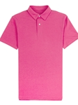 Fuchsia Blue Lightweight Pique Tennis Club Polo | Vastrm Polo Shirts | Sam's Tailoring Fine Men Clothing