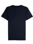 Navy Jersey Fabric Short Sleeve Men's Henley | Vastrm Henleys Collection | Sam's Tailoring Fine Men Clothing