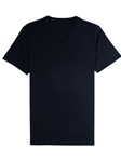 Navy Jersey Fabric Short Sleeve V-Neck Tee | Vastrm Henleys Collection | Sam's Tailoring Fine Men Clothing