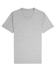 Heather Grey Jersey Fabric Short Sleeve V-Neck Tee | Vastrm Henleys Collection | Sam's Tailoring Fine Men Clothing