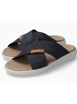 Navy Nubuck Smooth Leather Men's Sandal | Mephisto Sandals Collection | Sam's Tailoring Fine Men Clothing