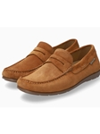 Cognac Smooth Leather Ultra Light Men's Loafer | Mephisto Loafers Collection | Sam's Tailoring Fine Men's Clothing