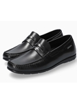 Black Smooth Leather Ultra Light Men's Loafer | Mephisto Loafers Collection | Sam's Tailoring Fine Men's Clothing