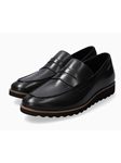 Black Smoother Leather Outsole Men's Loafer | Mephisto Loafers Collection | Sam's Tailoring Fine Men's Clothing