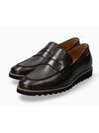 Dark Brown Smoother Leather Outsole Men's Loafer | Mephisto Loafers Collection | Sam's Tailoring Fine Men's Clothing
