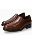 Hazelnut Smooth Leather Slip-On Men's Loafer | Mephisto Loafers Collection | Sam's Tailoring Fine Men's Clothing