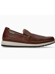 Hazelnut Tumbled Leather Slip-On Men's Loafer | Mephisto Loafers Collection | Sam's Tailoring Fine Men's Clothing