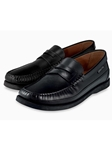 Black Smoother Leather Flat Heel Men's Loafer | Mephisto Loafers Collection | Sam's Tailoring Fine Men's Clothing