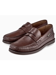 Hazelnut Smoother Leather Flat Heel Men's Loafer | Mephisto Loafers Collection | Sam's Tailoring Fine Men's Clothing