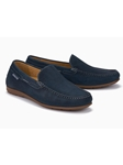 Navy Leather Lining Nubuck Men's Loafer | Mephisto Loafers Collection | Sam's Tailoring Fine Men's Clothing