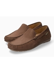 Dark Brown Leather Lining Nubuck Men's Loafer | Mephisto Loafers Collection | Sam's Tailoring Fine Men's Clothing