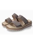 Pewter Hook & Loop Fastener Nubuck Casual Sandal | Mephisto Women's Casual Sandals | Sam's Tailoring  Fine Women Shoes