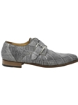 Gray High Speed Alligator Monk Strap Shoe | Mauri Monk Strap Shoes | Sam's Tailoring Fine Men's Shoes