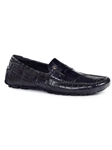 Black Ercole Alligator Men's Driving Loafer | Mauri Men's Loafers | Sam's Tailoring Fine Men's Clothing