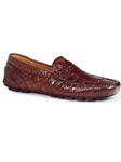Rust Ercole Alligator Men's Driving Loafer | Mauri Men's Loafers | Sam's Tailoring Fine Men's Clothing