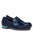 Indigo Blue Gallia Alligator & Pony Loafer | Mauri Men's Loafers | Sam's Tailoring Fine Men's Clothing