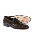 Olive Bramante Crocodile & Alligator Tassel Loafer | Mauri Men's Loafers | Sam's Tailoring Fine Men's Clothing