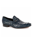 Wonder Blue Ostrich Quill Slip On Men's Loafer | Mauri Men's Loafers | Sam's Tailoring Fine Men's Clothing