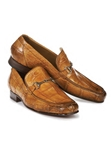 Chestnut Matrix Alligator Bit Handpainted Loafer | Mauri Men's Loafers | Sam's Tailoring Fine Men's Clothing