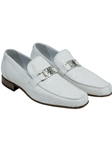 White Royalty Ostrich Bit Fine Men's Loafer | Mauri Men's Loafers | Sam's Tailoring Fine Men's Clothing