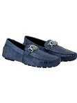 Caribbean Blue Tide Crocodile Flanks Driving Loafer | Mauri Men's Loafers | Sam's Tailoring Fine Men's Clothing