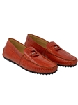Red Scenic Ostrich & Patent Leather Driving Loafer | Mauri Men's Loafers | Sam's Tailoring Fine Men's Clothing