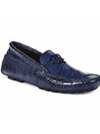 Wonder Blue Bartolini Alligator Driving Loafer | Mauri Men's Loafers | Sam's Tailoring Fine Men's Clothing