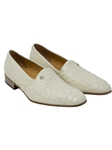 Winter White Sandstone Ostrich Leg Men's Loafer | Mauri Men's Loafers | Sam's Tailoring Fine Men's Clothing