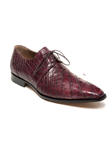Ruby Red/ Gray Body Alligator Dress Shoe | Mauri Dress Shoes | Sam's Tailoring Fine Men's Shoes