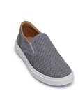 Titanium/Navy Soft Nubuck Leather Slip On Sneaker | Belvedere Studio Collection Shoes | Sam's Tailoring Fine Men's Clothing