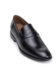Black Italian Nappa Leather Classic Penny Loafer | Belvedere Studio Collection Shoes | Sam's Tailoring Fine Men's Clothing