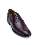 Dark Burgundy Cap Stitching Toe Italian Leather Shoe | Belvedere Studio Collection Shoes | Sam's Tailoring Fine Men's Clothing