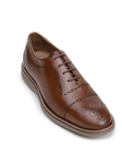 Antique Honey Classic Cap Toe Bal Men's Oxford | Belvedere Studio Collection Shoes | Sam's Tailoring Fine Men's Clothing