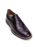 Antique Burgundy Wingtip Tapered Toe Oxford | Belvedere Studio Collection Shoes | Sam's Tailoring Fine Men's Clothing