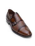 Antique Copper Double Monk Strap Cap Toe Shoe | Belvedere Studio Collection Shoes | Sam's Tailoring Fine Men's Clothing