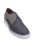 Titanium/Navy Hand Woven Alexius Casual Shoe | Belvedere Studio Collection Shoes | Sam's Tailoring Fine Men's Clothing