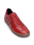 Antique Red Smooth Calfskin Edson Sneaker | Belvedere Studio Collection Shoes | Sam's Tailoring Fine Men's Clothing
