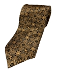 Gold And Black Paisley Silk Extra Long Tie | Italo Ferretti Extra Long Ties | Sam's Tailoring Fine Men's Clothing