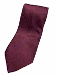 Red And Wine Paisley Silk Extra Long Tie | Italo Ferretti Extra Long Ties | Sam's Tailoring Fine Men's Clothing