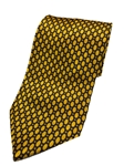 Black And Yellow Circles Silk Extra Long Tie | Italo Ferretti Extra Long Ties | Sam's Tailoring Fine Men's Clothing
