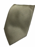 Black And Silver Stripe Silk Extra Long Tie | Italo Ferretti Extra Long Ties | Sam's Tailoring Fine Men's Clothing