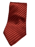Red On Red Stripe Silk Extra Long Tie | Italo Ferretti Extra Long Ties | Sam's Tailoring Fine Men's Clothing