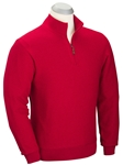 Cambridge Red Merino Wool Quarter Zip Wind Sweater | Bobby Jones Sweater Collection | Sams Tailoring Fine Men's Clothing