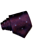 Bordeaux With Geometric Pattern Woven Silk Tie | Italo Ferretti Ties Collection | Sam's Tailoring Fine Men's Clothing