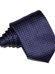 Navy Blue With Elegant Micropattern Sartorial Silk Tie | Italo Ferretti Ties Collection | Sam's Tailoring Fine Men's Clothing