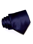 Navy With Red Micro Polka Dots Tailored Silk Tie | Italo Ferretti Ties Collection | Sam's Tailoring Fine Men's Clothing