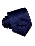 Navy Blue With Matching Pattern Tailored Woven Silk Tie | Italo Ferretti Ties Collection | Sam's Tailoring Fine Men's Clothing