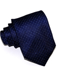Navy With Lurex Micropattern Sartorial Woven Silk Tie | Italo Ferretti Ties Collection | Sam's Tailoring Fine Men's Clothing