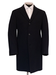 Black Slash Pockets Cashmere Men's Overcoat | Hickey Freeman Overcoats Collection | Sam's Tailoring Fine Men Clothing
